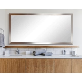 BrandtWorks Embossed Steel Framed Floor Mirror - Silver