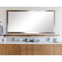 BrandtWorks Embossed Steel Framed Floor Mirror - Silver