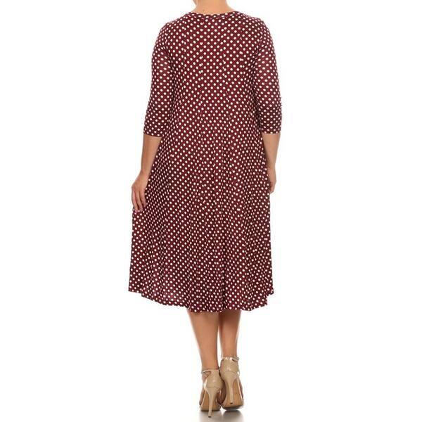 Burgundy Polka-Dot Size Medium Sundress