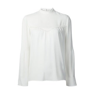 Derek Lam Women's White 100-percent Silk Blouse
