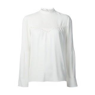 Derek Lam Women's White 100-percent Silk Blouse (3 options available)