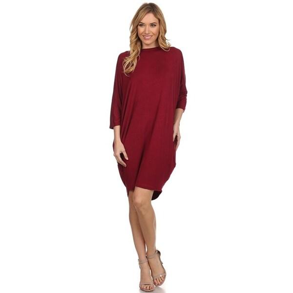 Women's Solid Knit Dress. Opens flyout.