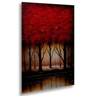 Masters Fine Art 'Serenade in Red' Floating Brushed Aluminum Art