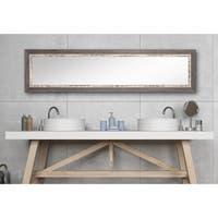 Multi Size BrandtWorks Weathered Harbor Framed Full-length Slim Mirror - weathered gray/white