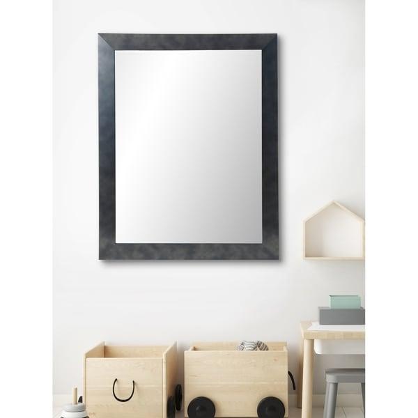 Multi Size BrandtWorks Clouded Gunmetal Framed Wall Mirror - Black