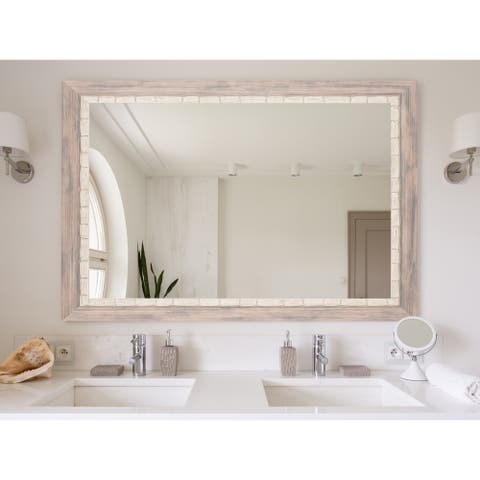 Multi Size BrandtWorks Weathered Beach Framed Wall Mirror