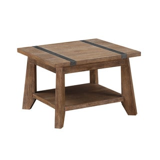 Emerald Home Viewpoint Plank Top Weathered End Table