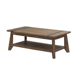 Emerald Home Viewpoint Rectangular Plank Top Cocktail Table