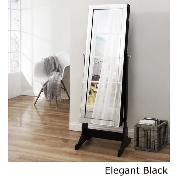 Shimmer Cheval FullLength Mirror Jewelry Armoire Free Shipping