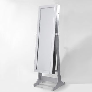 Shimmer Cheval Full-Length Mirror Jewelry Armoire