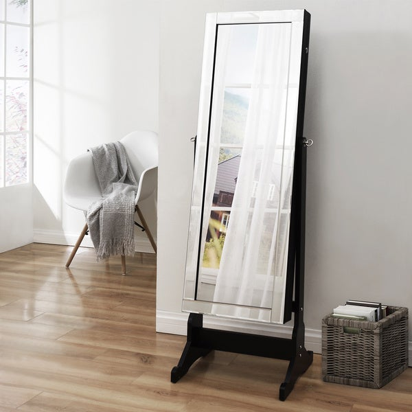Shimmer Cheval Full Length Mirror Jewelry Armoire Free