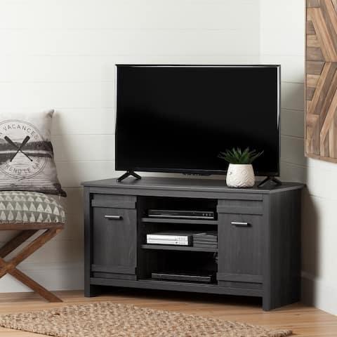 Exhibit Modern Storage Living Room Corner TV Stand - 42 Inch