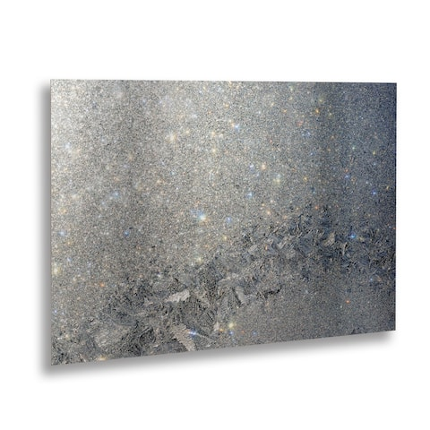 Kurt Shaffer 'Frost Pattern Sun Stars' Floating Brushed Aluminum Art