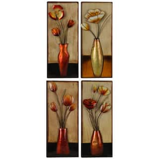 Metal Small Floral Vase Assorted Panels (Set of 4)|https://ak1.ostkcdn.com/images/products/14505572/P21061882.jpg?impolicy=medium