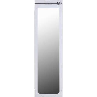 White Framed Over-the-door Mirror
