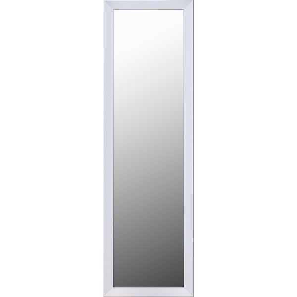 shop white framed over the door mirror on sale free shipping today 14505575. Black Bedroom Furniture Sets. Home Design Ideas