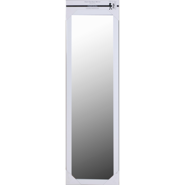 50x14 Inch White Framed Over The Door Mirror Full Length Mirrors Vanity Hallway Bathroom Bedroom Rectangle Home Decor Overstock 14505575