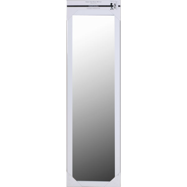 White Framed Over The Door Mirror   Free Shipping Today   Overstock.com    21061883