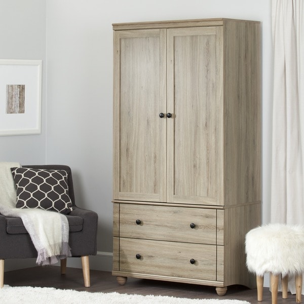 South Shore Hopedale 2 Drawer Storage Armoire