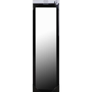 Black framed Over-the-door Mirror