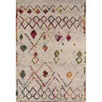 "Momeni Casa Machine Made Polypropylene Beige Area Rug - 7'10"" x 9'10"""