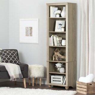 South Shore Hopedale Narrow 6-shelf Bookcase