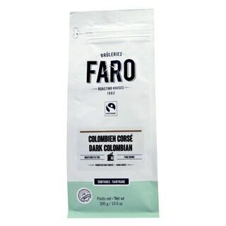 Faro Dark Columbian Filter Grind 10-ounce Organic And Fair Trade 100% Arabica Dark Roast Bold Coffee