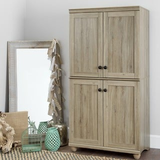 Link to South Shore Hopedale 4-door Storage Armoire - 4-Shelf Similar Items in Bedroom Furniture