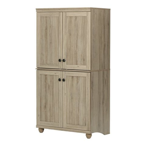 The Gray Barn Nessbaum 4-door Storage Armoire - 4-Shelf