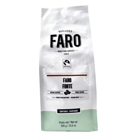 Faro Roasting Houses Forte 10-ounce Certified Organic and Fair Trade Neapolitan Espresso Blend Whole Coffee Beans