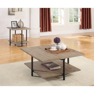 Emerald Home Turner Square Swivel Top Cocktail Table