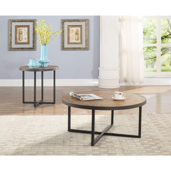 Carbon Loft Barnett Antique Pine Round Coffee Table On Sale Overstock 14505711