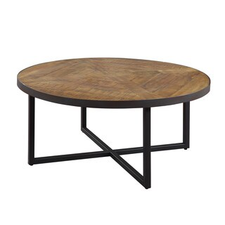 Emerald Home Denton Rustic Round Cocktail Table