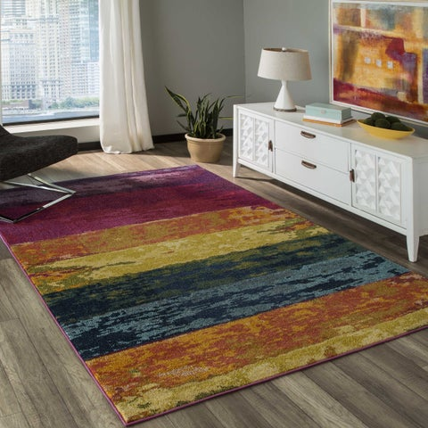 Momeni Casa Machine Made Polypropylene Multi Area Rug - 2' x 3'