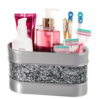 Creative Scents Brushed-nickel 3-compartment Bathroom Organizer