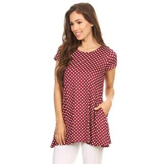 Women's Burgundy Polka-dot Tunic