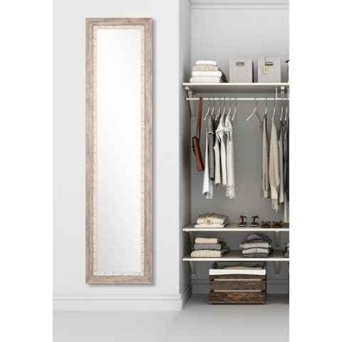 BrandtWorks Weathered Beach Full-length Dressing Mirror - multi cream
