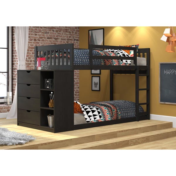 Donco Kids Mission Twin over Twin Chest and Storage Bunk Bed. Opens flyout.