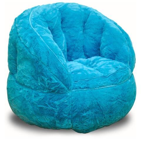 Heritage Kids Plush Faux Fur Bean Bag Chair
