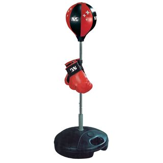Kids' Black Glove and Punching Bag Boxing Combo