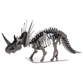 Metal 22-inch 3-D Triceratops Dinosaur Puzzle