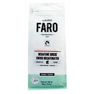 Faro Swiss Decaffeinated Medium Roast 10-ounce Organic Fair Trade Ground Coffee