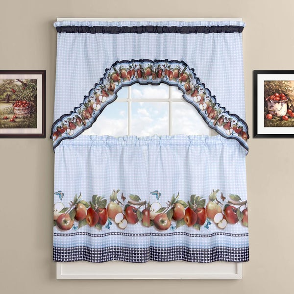 Shop Delicious Apples Kitchen Curtain Tier And Valance Set