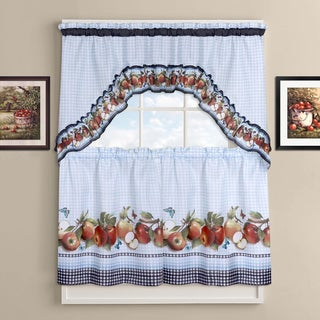Delicious Apples Kitchen Curtain Tier and Valance Set
