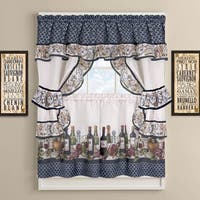 Chateau Wines Cottage Kitchen Curtain Tier and Valance  Set