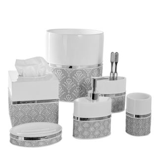 Mirror Damask 6-piece Bath Accessory Set
