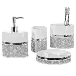 Vanda Bath Accessory 4 Piece Set