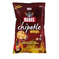 Aubrey D. Authentic Chicken Wing Potato Chips with Medium Hot Smoky Chipotle Flavor - Bbq Chips
