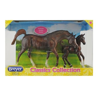 Breyer Classics Chestnut Arabian Horse and Foal Plastic Set