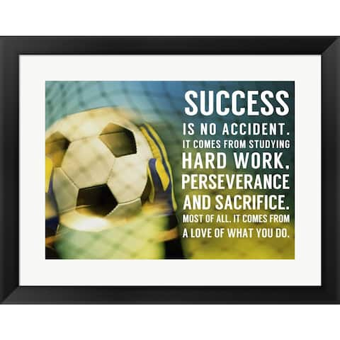 Sports Mania 'Success - soccer quote' Framed Wall Art